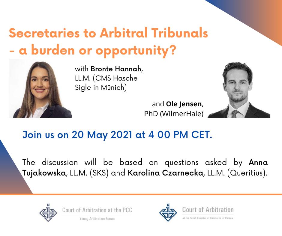 Secretaries to Arbitral Tribunals 5
